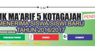 Penerimaan Siswa/siswi Baru SMK Ma'arif 5 Kotagajah Tahun Pelajaran 2016/2017 Membuka Jurusan 1. Farmasi 2. Perbankan 3. Otomotif (Teknik Sepeda Motor) Waktu dan Pendaftaran : 1. Jalur Prestasi Pendaftaran dibuka […]
